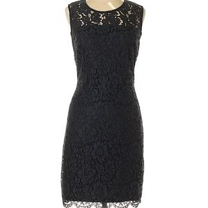 Banana Republic Navy Lace Dress